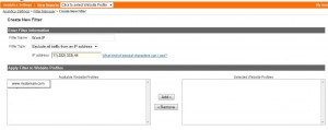 Google Analytics IP Filter Screen