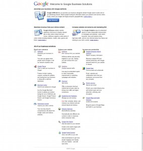 Google Business Services page test control