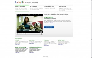 Google Business Service page test -page A