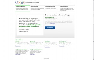 Google Business Services page test - Page B